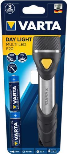 LED svítilna Varta Day Light F20 Multi LED, 40lm, 2x AA - zvìtšit obrázek
