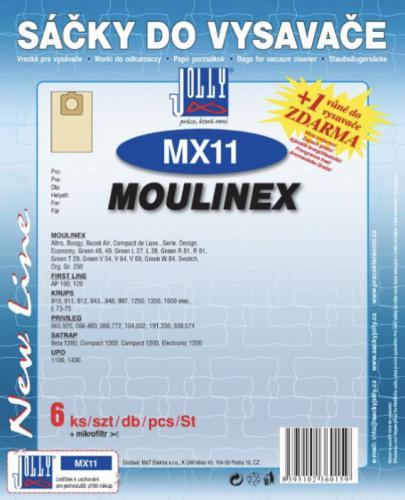 Sáèky do vysavaèe Jolly MX11 Moulinex papírové (6ks) + 1 vùnì zdarma