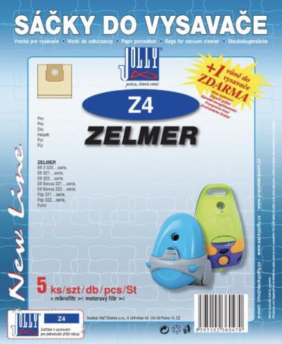 Sáèky do vysavaèe Jolly Z4 Zelmer papírové (5ks) + 1 vùnì zdarma