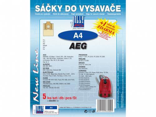 Sáèky do vysavaèe Jolly A4 AEG papírové (5ks) + 1 vùnì zdarma - zvìtšit obrázek