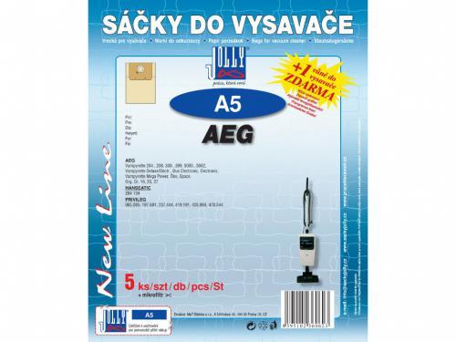 Sáèky do vysavaèe Jolly A5 AEG papírové (5ks) + 1 vùnì zdarma - zvìtšit obrázek