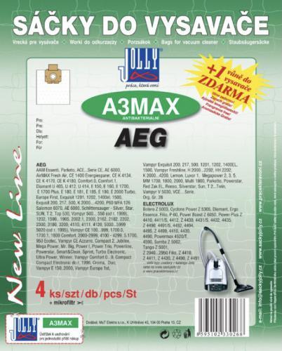 Sáèky do vysavaèe Jolly A3 MAX AEG textilní (4ks) + 1 vùnì zdarma - zvìtšit obrázek