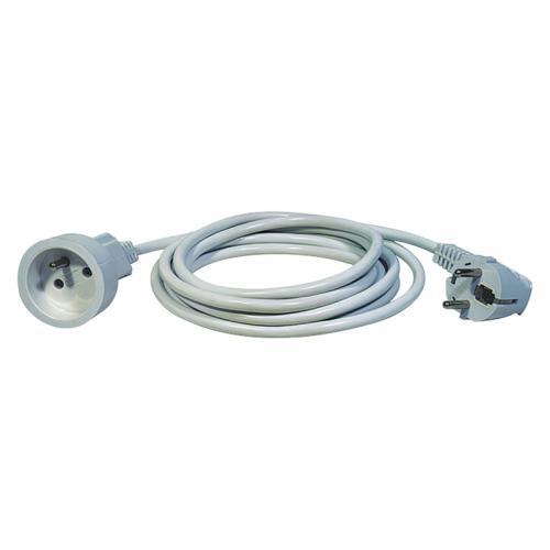 Prodlužovací kabel – spojka, 1,5m, bílý, H05VV-F3G 1 mm2, Emos P0111
