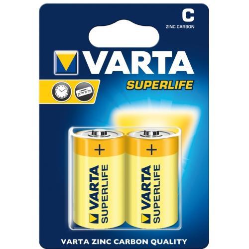 Baterie Varta Superlife R14 C Zinc- Carbon, malé mono, blistr 2 ks
