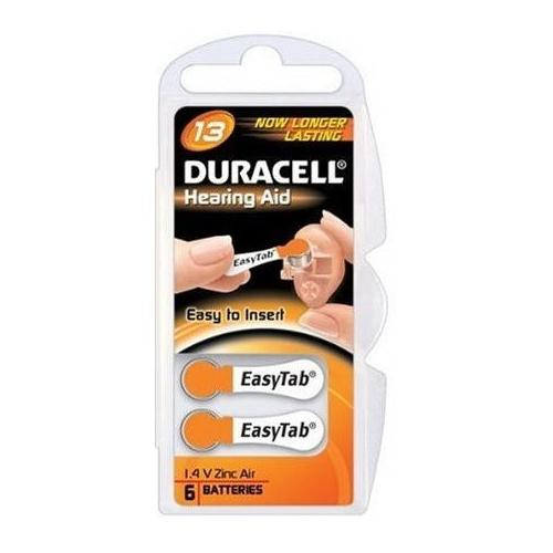 Baterie Duracell 13 PR48 1,4V do naslouchadel blistr 6 ks v balení