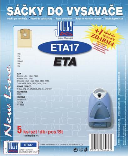Sáèky do vysavaèe Jolly ETA17 ETA 5ks papírové + 1 vùnì zdarma