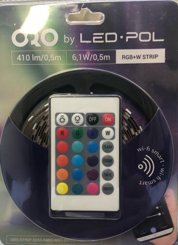 LED pásek sada LED-POL ORO-STRIP-5050-NWD-WIFI-DRIVE-RGBW-SET, 3m, WiFi, RGB+W, 3000 - 6500K, ORO31004