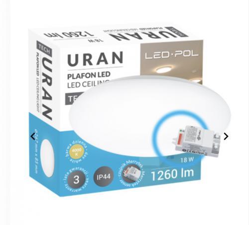 LED svítidlo s èidlem pohybu MERRYTEK LED-POL ORO-URAN-18W-DW-MIC, 18W, 4000K, 1260lm, IP44, ORO26008