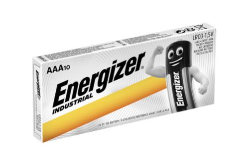 Alkalické baterie Energizer Industrial AAA / LR03 mikrotužkové, krabièka 10ks