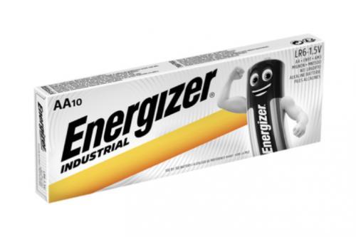 Alkalické baterie Energizer Industrial AA / LR06 tužkové, krabièka 10ks - zvìtšit obrázek