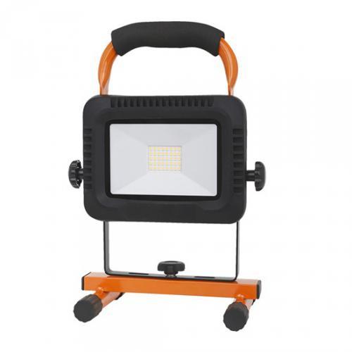 LED nabíjecí reflektor 20W, pøenosný, nabíjecí, 1600lm, oranžovo-èerný, IP44, Solight WM-20W-DE