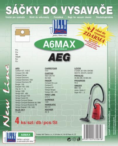 Sáèky do vysavaèe Jolly A6 MAX AEG textilní 4 ks + 1 vùnì zdarma - zvìtšit obrázek