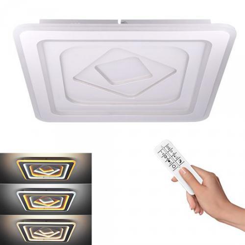 LED stropní svìtlo Cascade, ètvercové, 86W, 4730lm, dálkové ovládání, Solight WO758 - zvìtšit obrázek