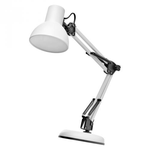 Stolní lampa LUCAS na žárovku E27, bílá, Emos Z7609W