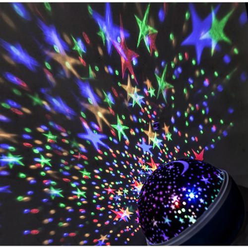 LED projekèní koule, multicolor, 9 režimù, otáèení, USB, 4x AAA, Solight 1V220