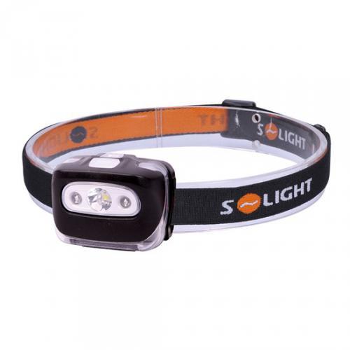 Èelová LED svítilna, 3W + èervené svìtlo, 3x AAA, 150lm, Solight WH27 - zvìtšit obrázek