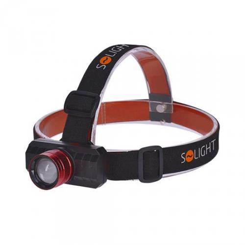 LED èelová nabíjecí svítilna, 3W, 150lm, zoom, Li-ion, USB, Solight WN36