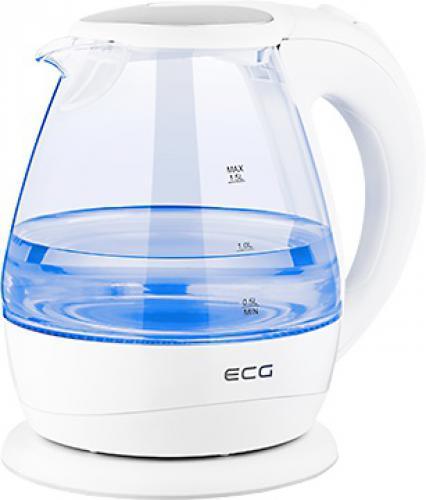 Rychlovarná konvice ECG RK 1520 Glass, bílá, objem 1,5 l - zvìtšit obrázek
