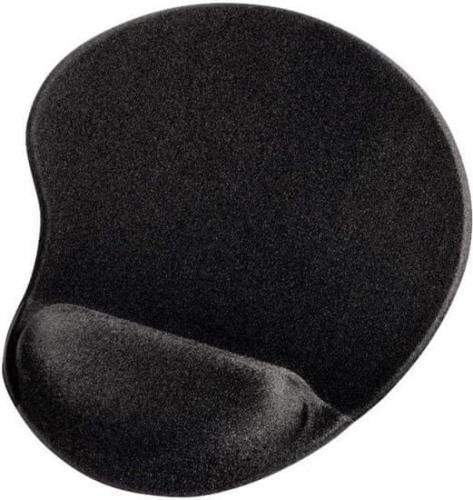 Ergonomická gelová podložka Hama pod myš, èerná, 54777