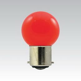 LED G45 230-240V 1W/015 COLOURMAX B22d ÈERVENÁ IPX4