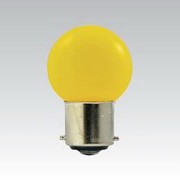 LED G45 230-240V 1W/016 COLOURMAX B22d ŽLUTÁ IPX4