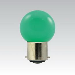LED G45 230-240V 1W/017 COLOURMAX B22d ZELENÁ IPX4
