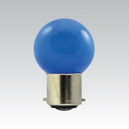 LED G45 230-240V 1W/018 COLOURMAX B22d MODRÁ IPX4