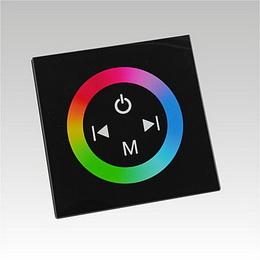 LED RGB contoller dotykový panel TM08 DC12-24V 3x4A èerný