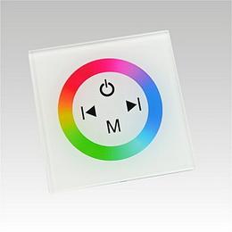 LED RGB contoller dotykový panel TM08 DC12-24V 3x4A bílý
