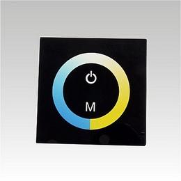 LED controller CCT dotyk. panel W/WW TM07 DC12-24V 2x4A èerný