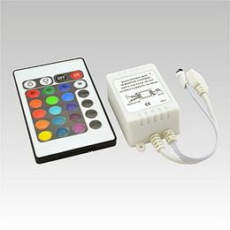 LED IR RGB controller DC12V 3x2A 24 tlaè. klávesnice