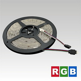 LED pásek 12V   60LED/m SMD3528 RGB 4.8W/m IP65