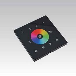 RF nástìnný dotykový ovladaè 4 zóny èerný RGB(W)