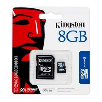 microSDHC 8GB Kingston Class 4 + Adapter (EU Blister)